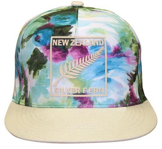 PK-60606 - Headwear Flat Peak Watercolour Beige Peak - New Zealand Gifts & Souvenirs