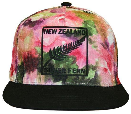PK-60607 - Headwear Flat Peak Watercolour Black Peak - New Zealand Gifts & Souvenirs