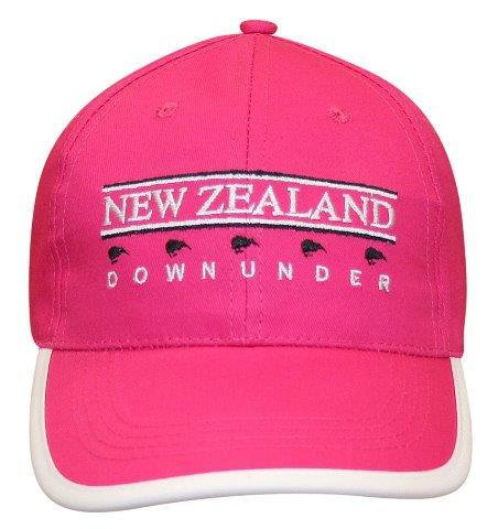 PK-60635 - Headwear NZ Downunder Pink White - New Zealand Gifts & Souvenirs