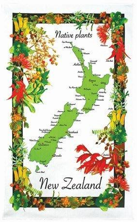 PK-65034 - Tea Towel Native Plants - New Zealand Gifts & Souvenirs