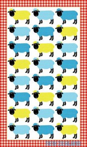 PK-65085 - TeaTowel Spotty Sheep - New Zealand Gifts & Souvenirs
