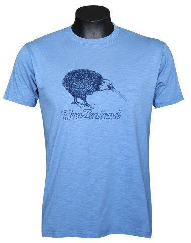 PK-70259 - T-Shirt Sea to Sky Kiwi Blue Mens - New Zealand Gifts & Souvenirs
