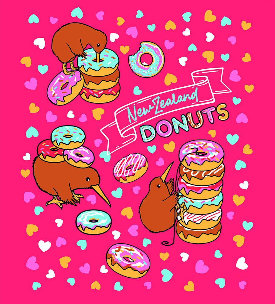 PK-70440 - Kids T-Shirts - New Zealand Donuts Melon - New Zealand Gifts & Souvenirs