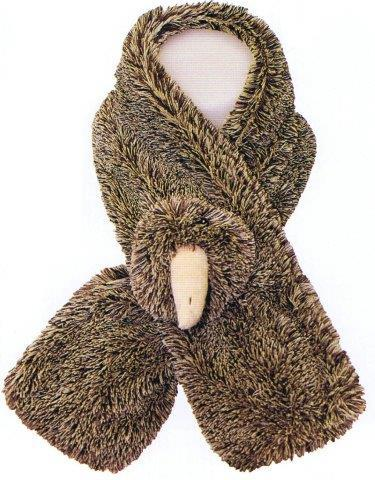 PK-75100 - Neck Warmer Kiwi Feather - New Zealand Gifts & Souvenirs