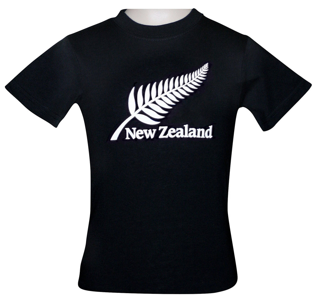 PK-75673 - Kids T-Shirts - Night Glow Fern Black - New Zealand Gifts & Souvenirs