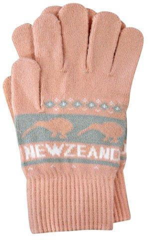 PK-79399 - Headwear Gloves Knitted Kiwis Pink - New Zealand Gifts & Souvenirs
