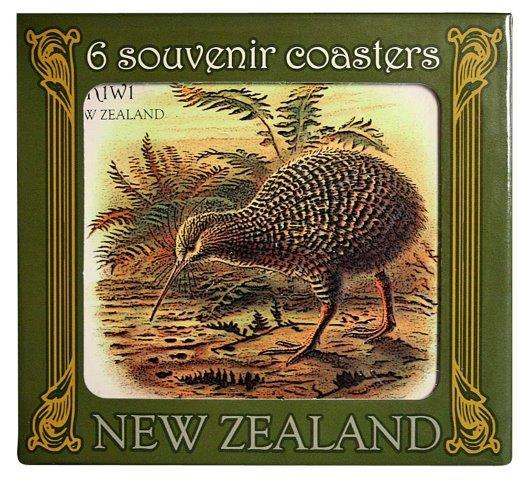 PK-80463 - Novelty Coasters Vintage Birds - New Zealand Gifts & Souvenirs