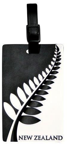 PK-80490 - Luggage Tag Black White Fern - New Zealand Gifts & Souvenirs
