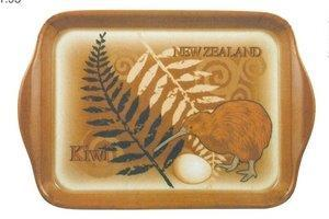 PK-82119 - Tray - Small Tray - Brown - Kiwi Design - New Zealand Gifts & Souvenirs