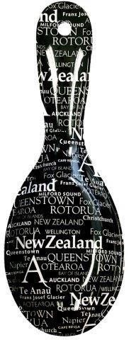 PK-82237 - Spoon Rest Names Black - New Zealand Gifts & Souvenirs