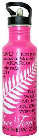PK-82288 - Water Bottle 750 ml Fern Pink - New Zealand Gifts & Souvenirs