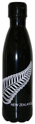 PK-82290 - Novelty Thermo Water Bottle Fern Black - New Zealand Gifts & Souvenirs