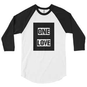 One Love 3/4 sleeve raglan shirt