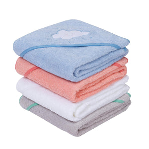 ClevaMama | Soft Cotton Apron Baby Bath Towel (3 Designs)