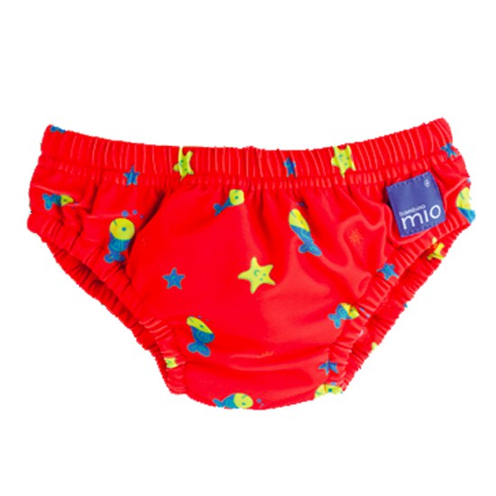 BambinoMio - Swim Nappies (Red Fishes)