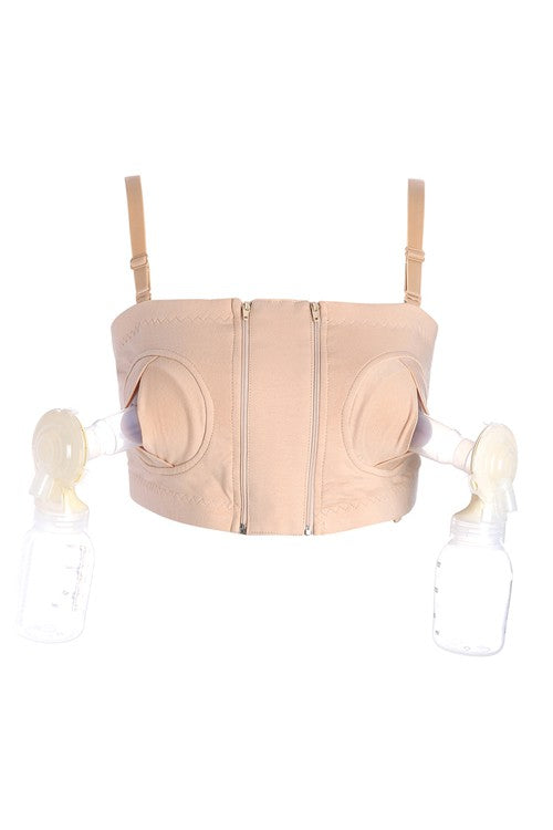 Prettymums - Hands-Free Nursing Bra - Nude
