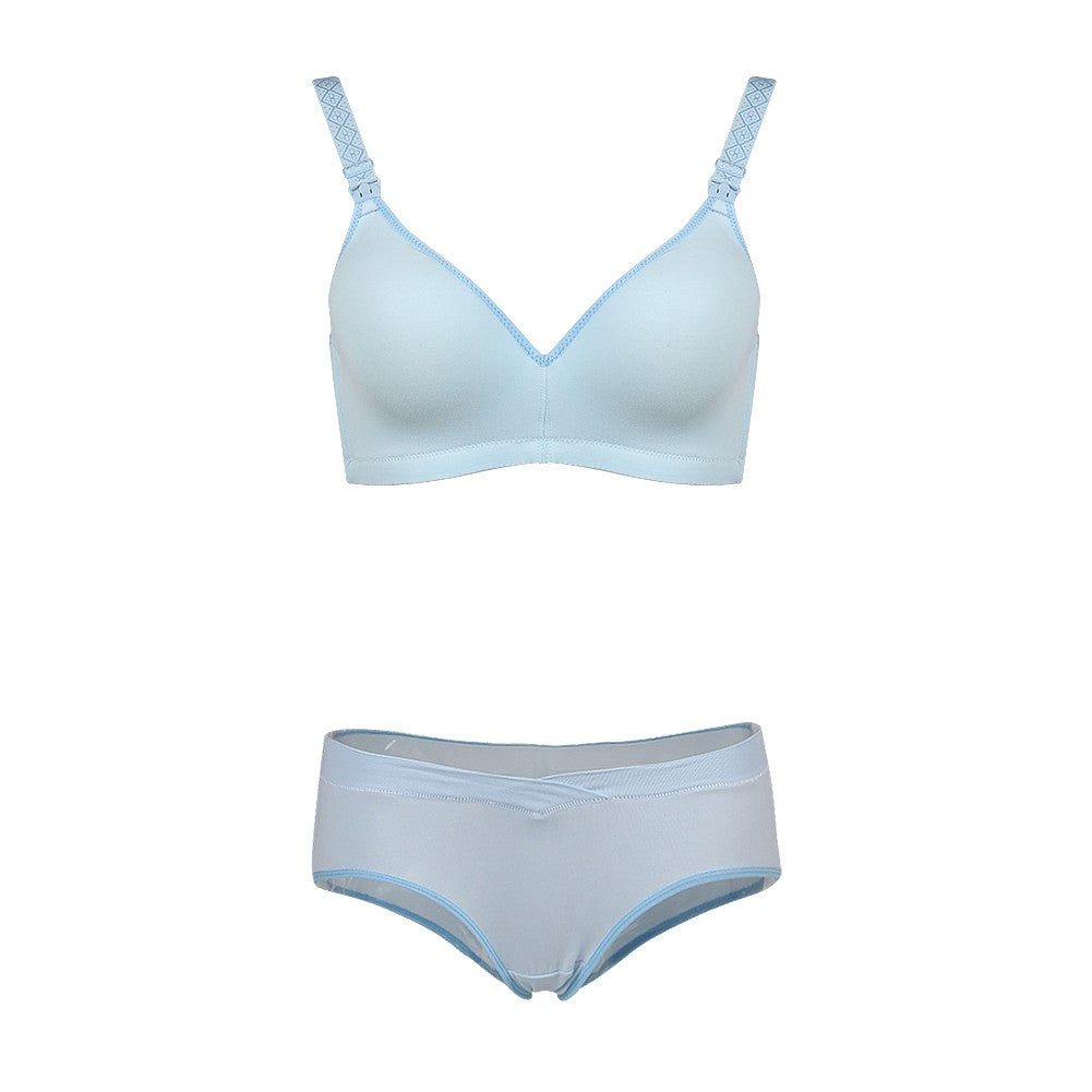 Prettymums - Gracious Nursing Bra & Panty - Blue
