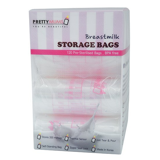 Breastmilk Storage Bags with Thermal Sensor (120pcs)
