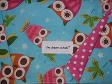 Load image into Gallery viewer, The Diaper Clutch - Aqua Owls