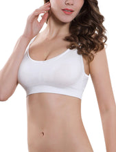 Load image into Gallery viewer, PrettyMums - Feminine Scoop Neck Nursing Bra (White)