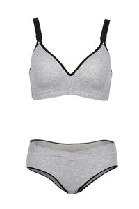 Prettymums - Gracious Nursing Bra & Panty - Grey