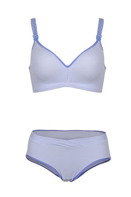 Prettymums - Gracious Nursing Bra & Panty - Purple