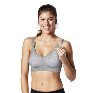 Bravado - Body Silk Seamless Yoga Nursing Bra - Dove Heather