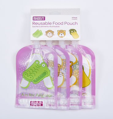 Rhoost - Reusable Food Pouch (4-Pack)