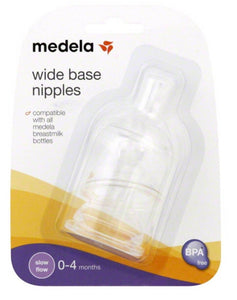Medela - Wide Base Silicone Nipples (Slow Flow)