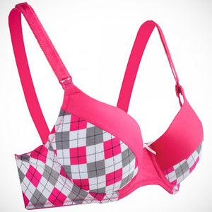 AUTUMNZ - FLORENCE T-Shirt Nursing Bra (Chequered)