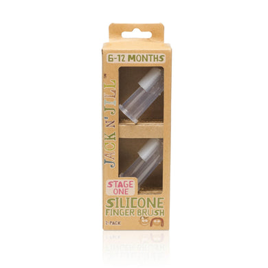 Jack N' Jill | Silicone Finger Brush 2 Pack - Stage 1 (6 to 18 Months)