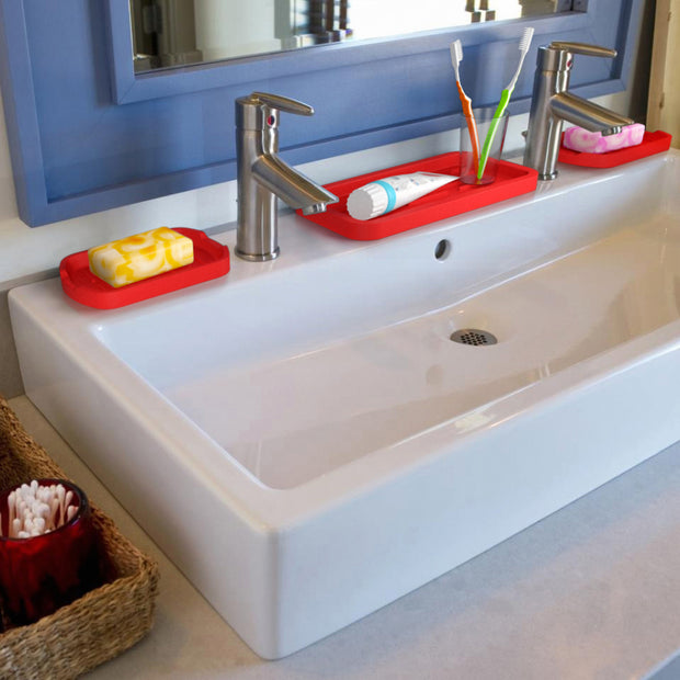 Silicone Sink Tray Red Orange Good To Good