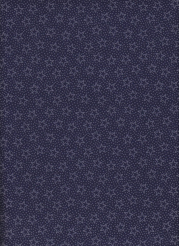 Made in USA White Dotted Stars on Navy fabric