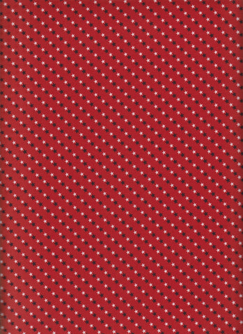 Made in USA Small Stars Red fabric
