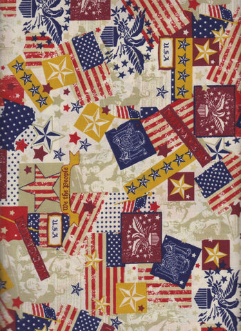 Made in USA Antique fabric