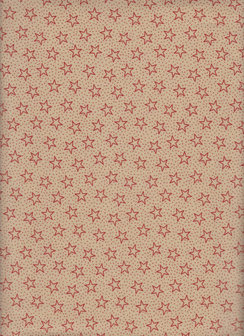 Made in USA Battleground Stars Red fabric