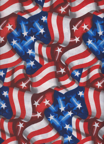 Made in USA Waving Flags fabric