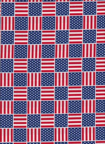 Made in USA Flags Squared fabric
