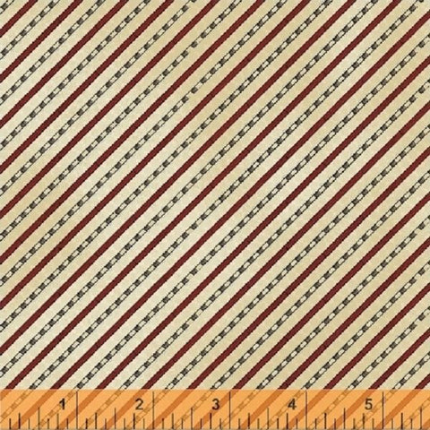 Windham Fabrics Galileo Diagonal Stripes Cream fabric