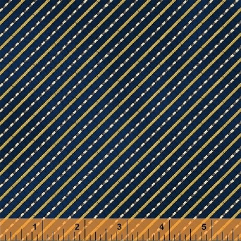 Windham Fabrics Galileo Diagonal Stripes Navy fabric