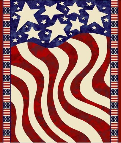 Fabric Traditions Creation Station Flag Panel fabric