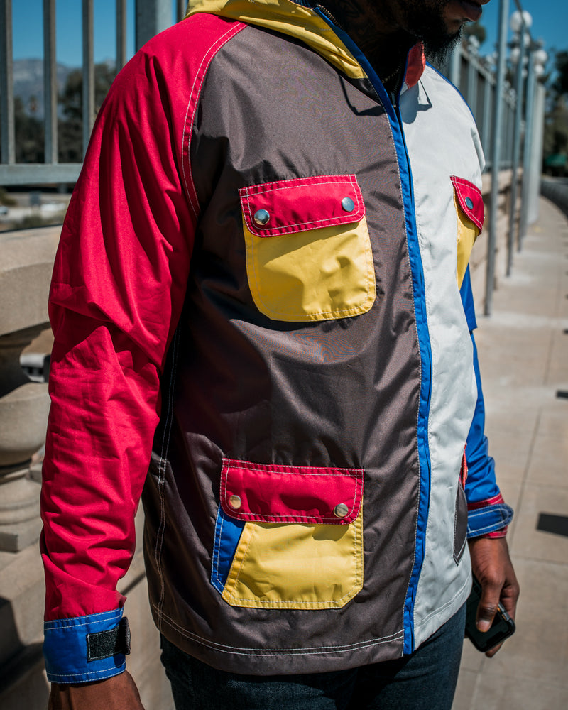 Multi Color Blocker Jacket (2 in 1)