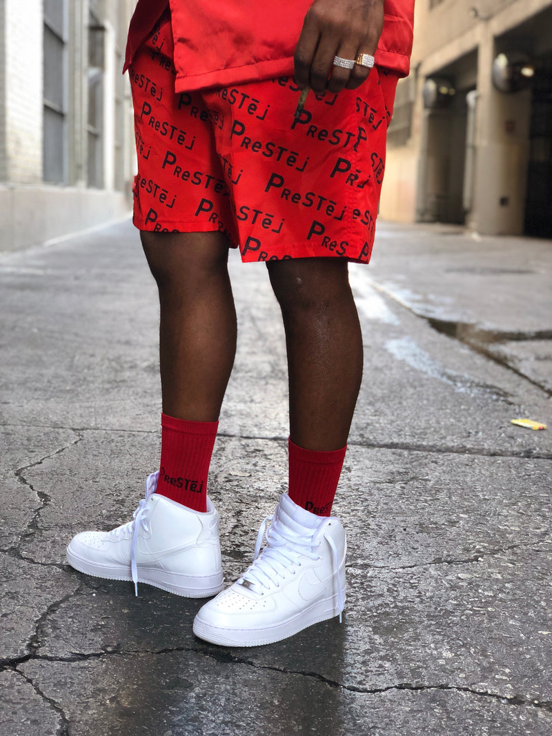 Prestej Logo Socks (Red)