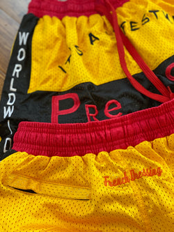 """BALL DAY""  shorts (Yellow)"