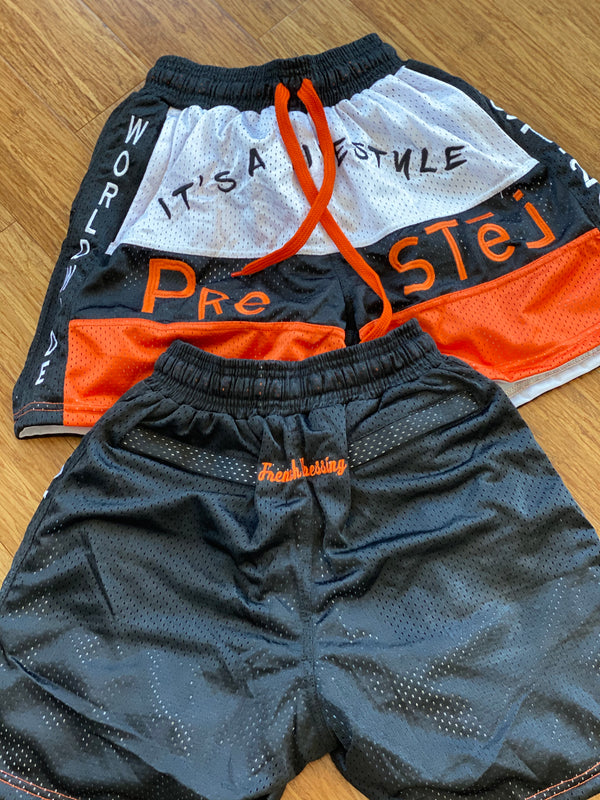 """BALL DAY""  shorts (Orange)"
