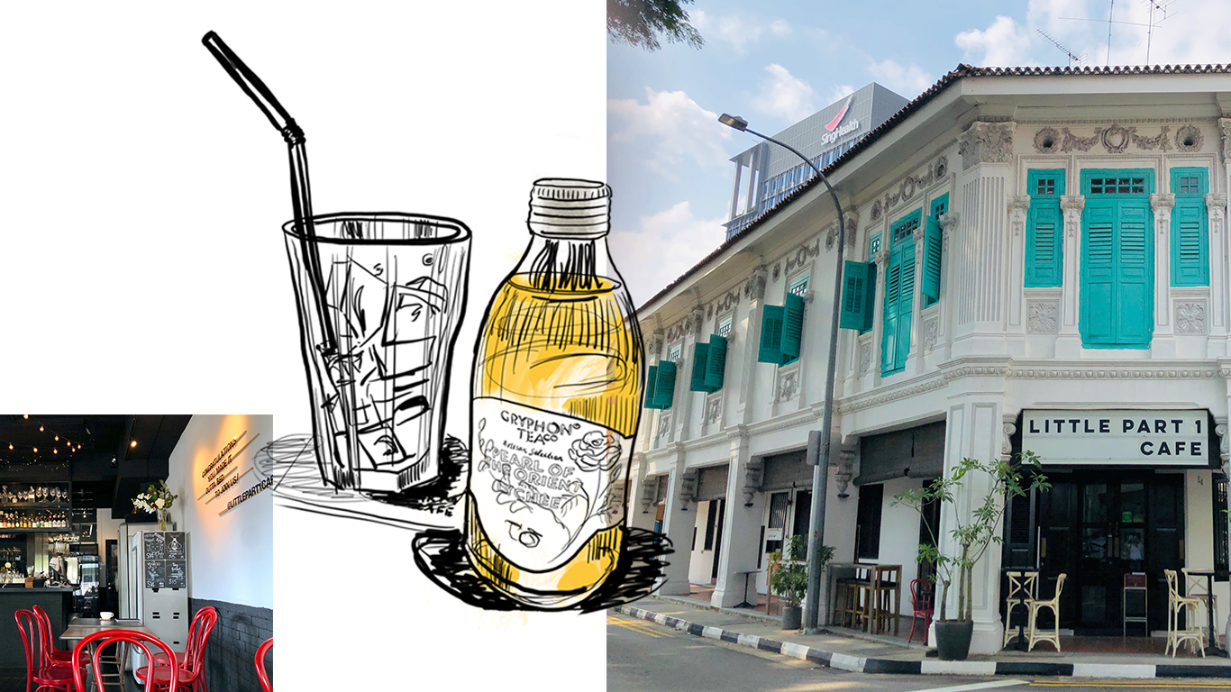 little part cafe and sketch of drink