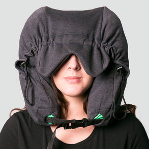 Quiet Wellness Neck Pillow Hood with Travel Bag