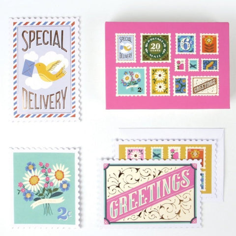 Postage Stamp Boxed Notecards