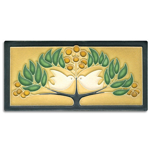Motawi Lovebirds Tile