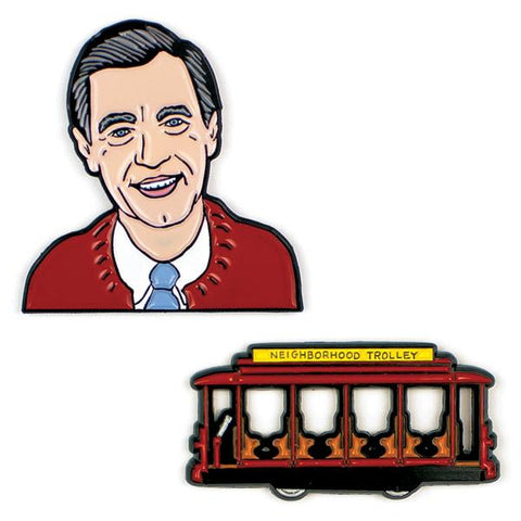 Mr. Rogers and Trolley Pin